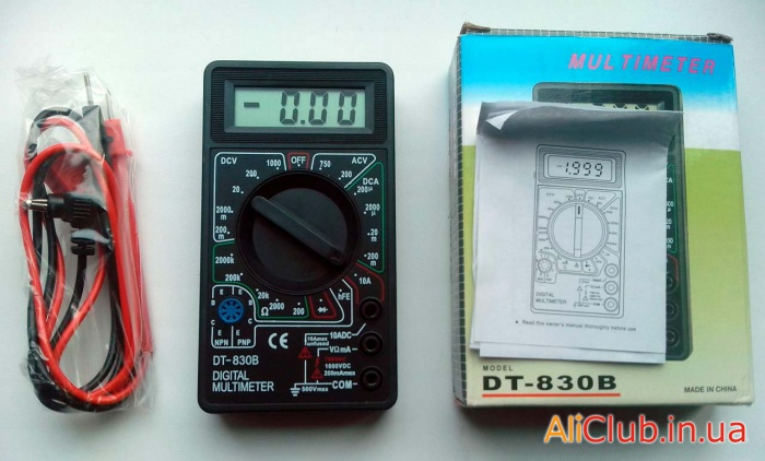 Tools, repair: simple multimeter tester DT-830B