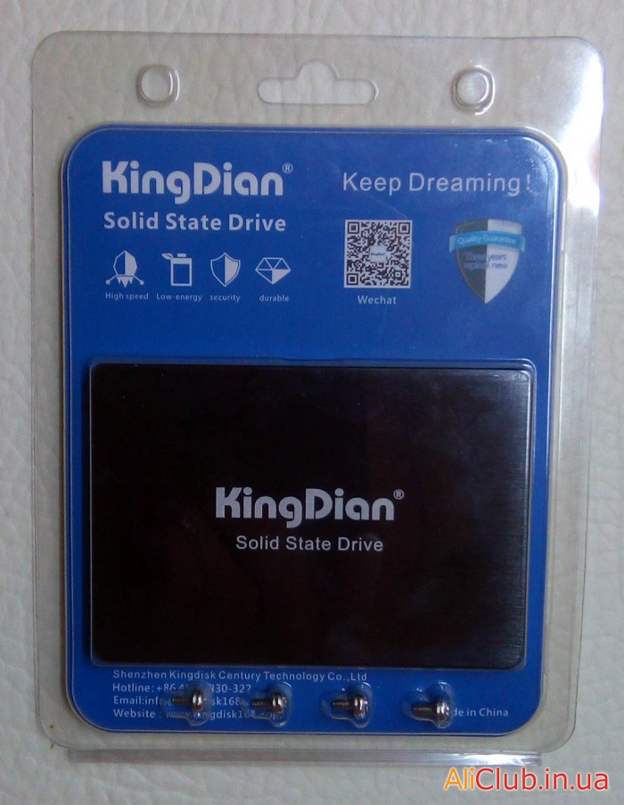 USB flash drives, memory cards, SSD: Solid State drive SSD KingDian 60Gb SATA3