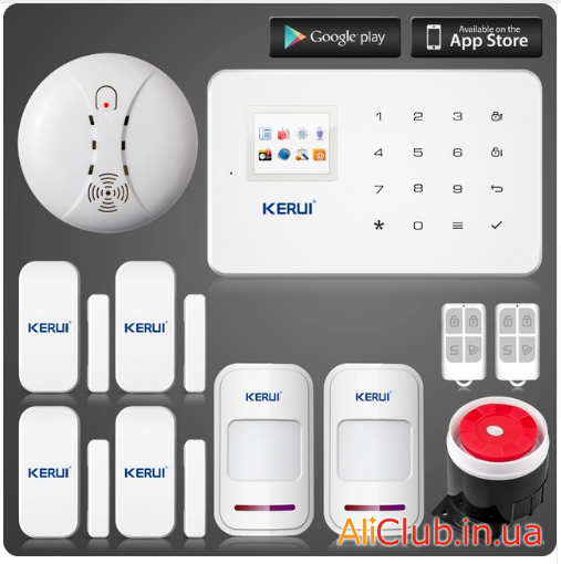 electronics: a Review of the security GSM alarm system KERUI G18 with additional sensors