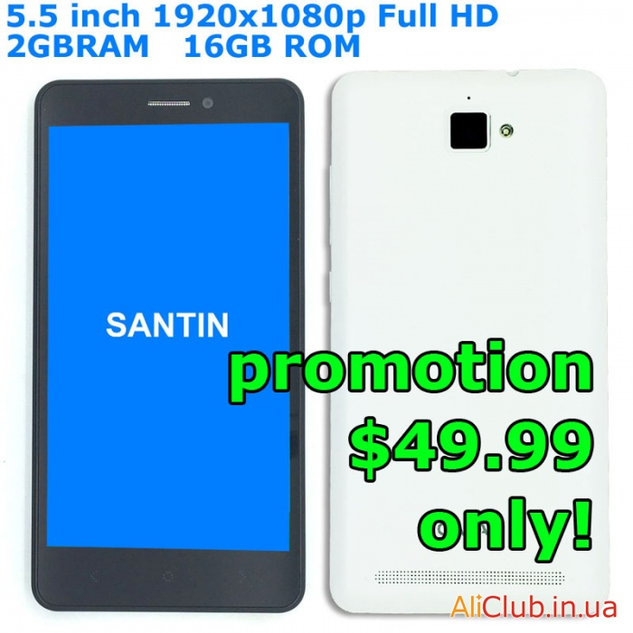 Phones and Accessories: Overview  Santin Galaz - FullHD 2Gb RAM smartphone for $ 50, reincarnation Hasee X50 TS