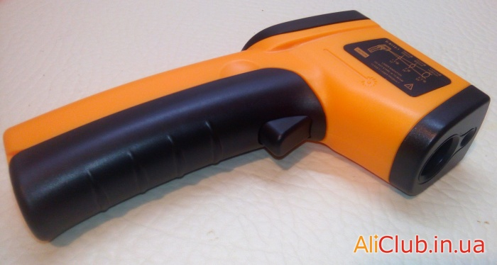 electronics: Infrared thermometer (pyrometer) with Aliexpress for 7.5$