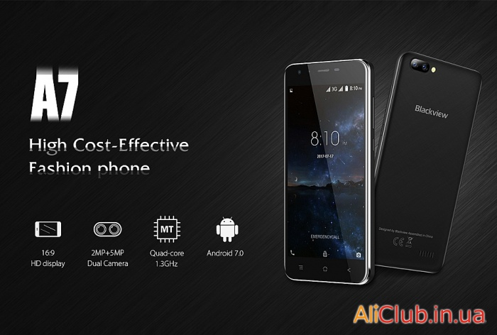 Phones and accessories: Review Blackview A7 - budget for 39.99$ with two cameras, and a 2800mAh battery