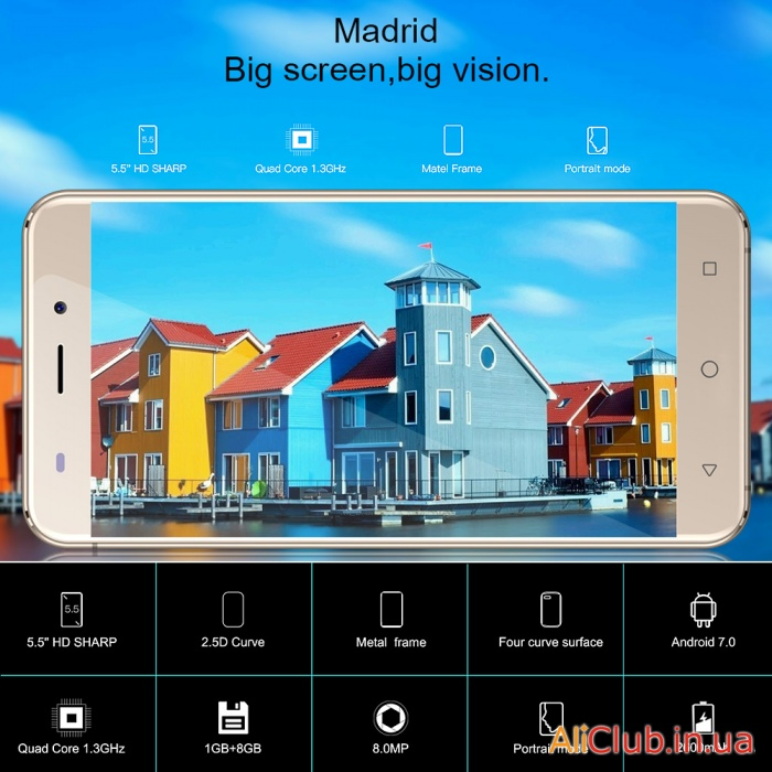 Phones and accessories: Review AllCall Madrid - budget smart with a hint of bermocoll, the campaign for 49.99